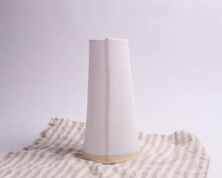 White Matte Tapered Vase