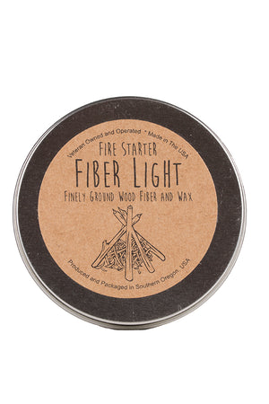 Top of can view of Fiber Light Fire Starter