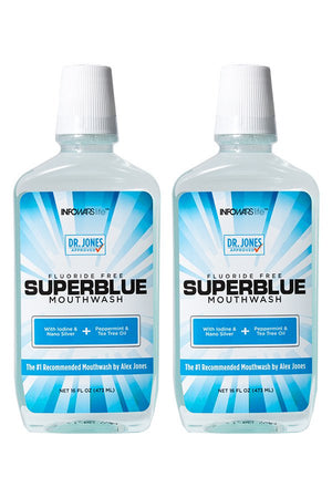 Superblue Fluoride-Free Mouthwash: 2 Pack