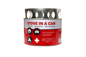 Stove In A Can - Emergency Survival Stove With 4 Fuel Disks