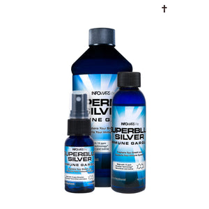 Superblue Silver Immune Gargle All Sizes Combo