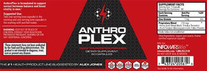 Label of Bottle of Anthroplex for 10-Pack