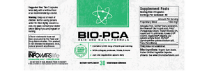 Label of Bottle of Bio-PCA for 2-Pack
