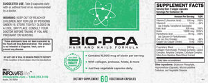 View of Label for Bottle of Bio PCA
