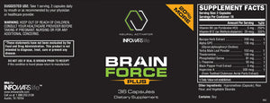 Label for Bottle of Brain Force
