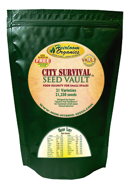 City Survival Seed Vault Heirloom Organics Bag