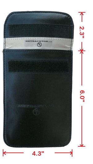 Detracktor Cell Phone Pouch - Black