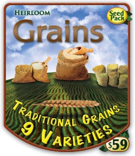 Heirloom Organics Grains Seed Pack 9 Varieties