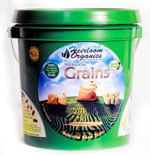 Heirloom Organics Grains Seed Pack Bucket