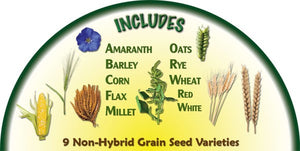 Heirloom Organics Grains Seed Pack Contents