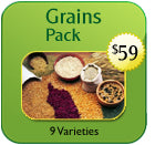 Heirloom Organics Grains Seed Pack Price and Label