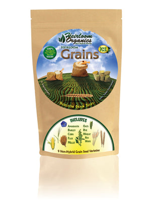 Heirloom Organics Grains Seed Pack