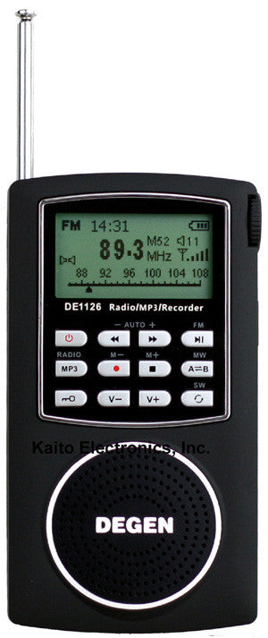 Degen DE1126 Radio full view