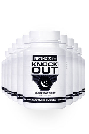 Bottle of Knockout Sleep Supplement for 10-Pack