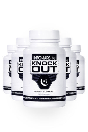 Bottle of Knockout Sleep Supplement for 5-Pack