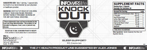 Label of Bottle of Knockout Sleep Supplement