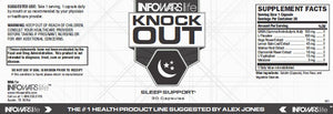 Label of Bottle of Knockout Sleep Supplement for 10-Pack