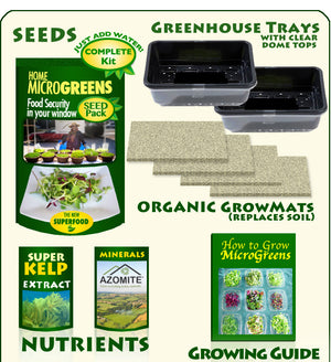 Heirloom Organics MicroGreens Kit Contents