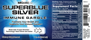 Superblue Silver Immune Gargle 1oz Spray: 5 Pack