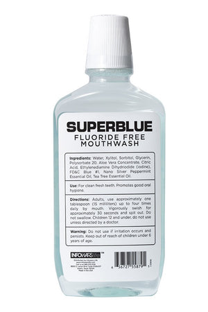 Superblue Fluoride-Free Mouthwash: 10 Pack