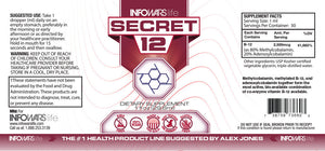Secret 12: Ten Pack Label
