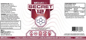 Secret 12 - Vitamin B12 Label
