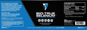 Label of Bottle of Bio-True Selenium