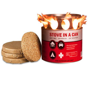Stove In A Can - Emergency Survival Stove With 4 Fuel Disks 1
