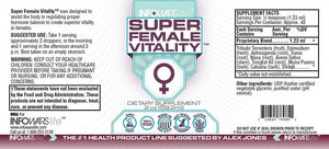 Super Female Vitality Label