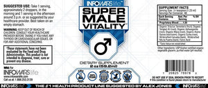 Super Male Vitality: 5 Pack Label
