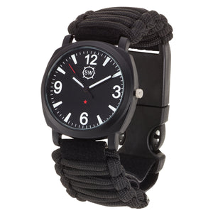 Survival Watch V3 Military Grade Paracord Black