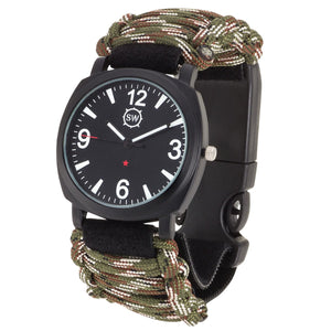 Survival Watch V3 Military Grade Paracord Camo