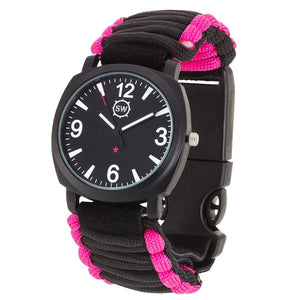 Survival Watch V3 Military Grade Paracord Pink