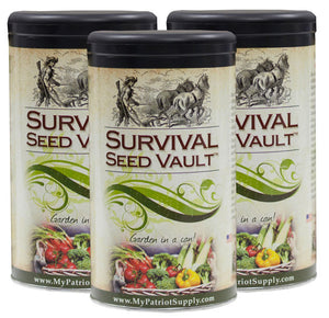 Survival Seed Vault--3 PACK