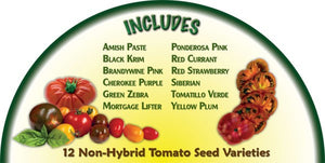 Heirloom Organics Tomato Seed Pack Contents