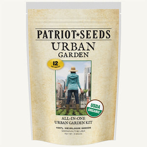 Organic Urban Garden Seed Kit By Patriot Seeds