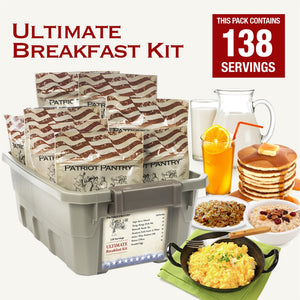 Ultimate Breakfast Kit Infowars Life Select Emergency Survival Food contents