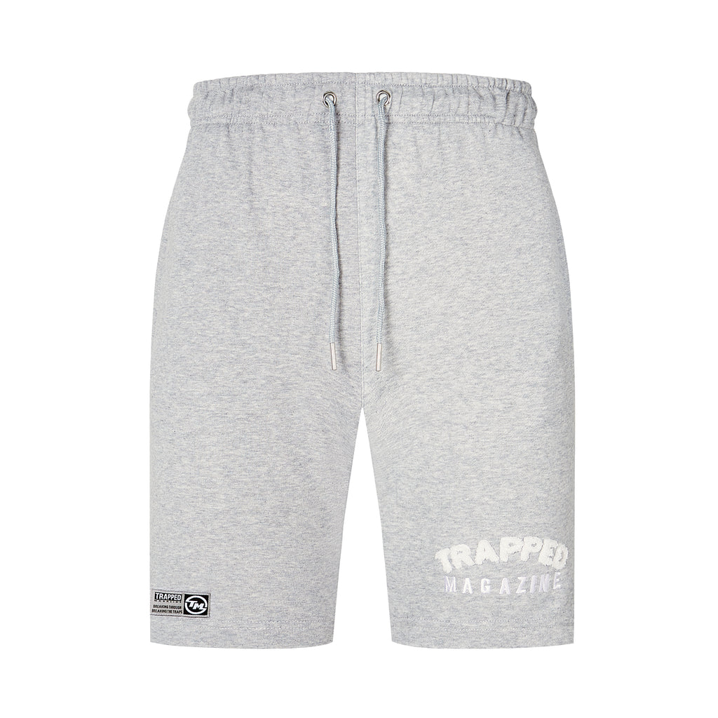 Chenille Shorts - Grey/White
