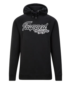 Black Script Trapped Magazine Hoodie