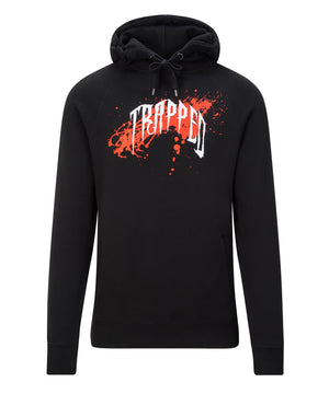 Red/Black Trapped Paint Splash Hoodie