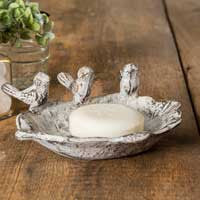 THREE SINGING BIRDS SOAP DISH