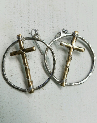 On The Cross Earrings