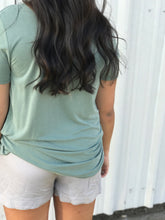 Sage Knotted Top