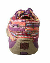 Women's Twisted-X Purple Multi Canvas Bomber Boat Shoes