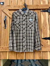 Wrangler Long Sleeve Shirt Brown Plaid