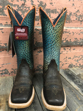 Ariat Women's Brown Gringa Rainbow Fish Print Boots - Square Toe