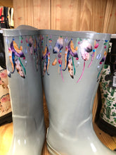 Blazin Roxx Grey Feather Round Toe Rain Boots -Briana