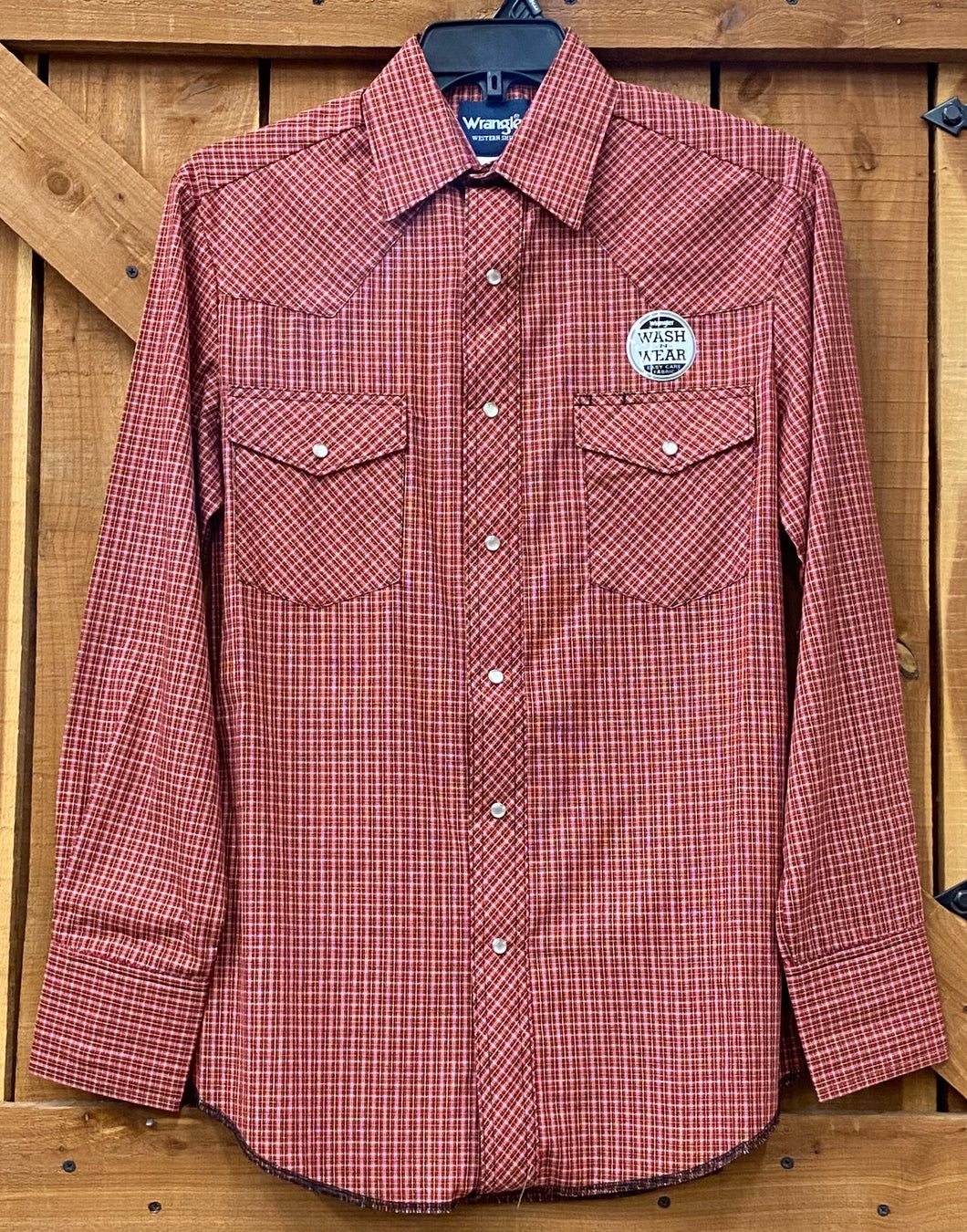 Wrangler Long Sleeve Plaid Shirt