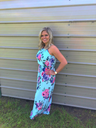 Beautiful In Floral Maxi Dress