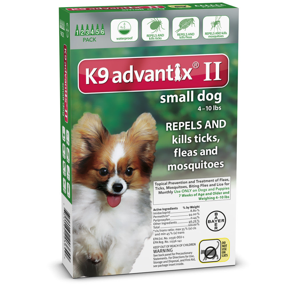 K9 Advantix II Small Dog 4-10 lbs